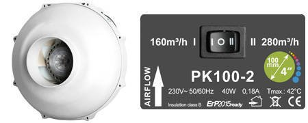 PK100 MES two speed - 280m3/h