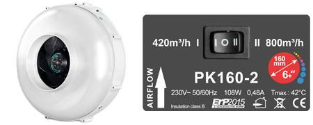 PK160 MES Two Speed - 800m3/h